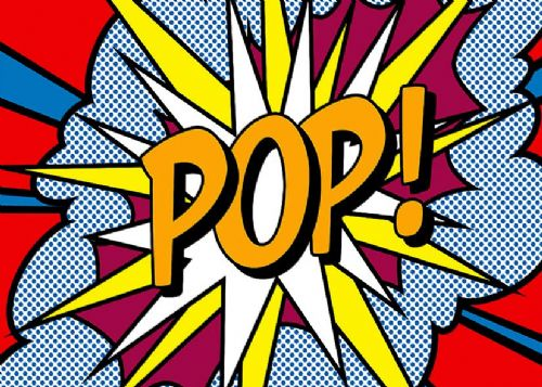 ART - POP ART - POP EXPLODES canvas print - self adhesive poster - photo print